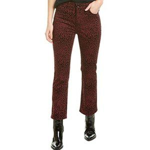 rag & bone Womens Corduroy Animal Print Cropped Pants #207-G